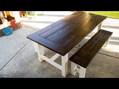 Building a Farmhouse Table for the Patio