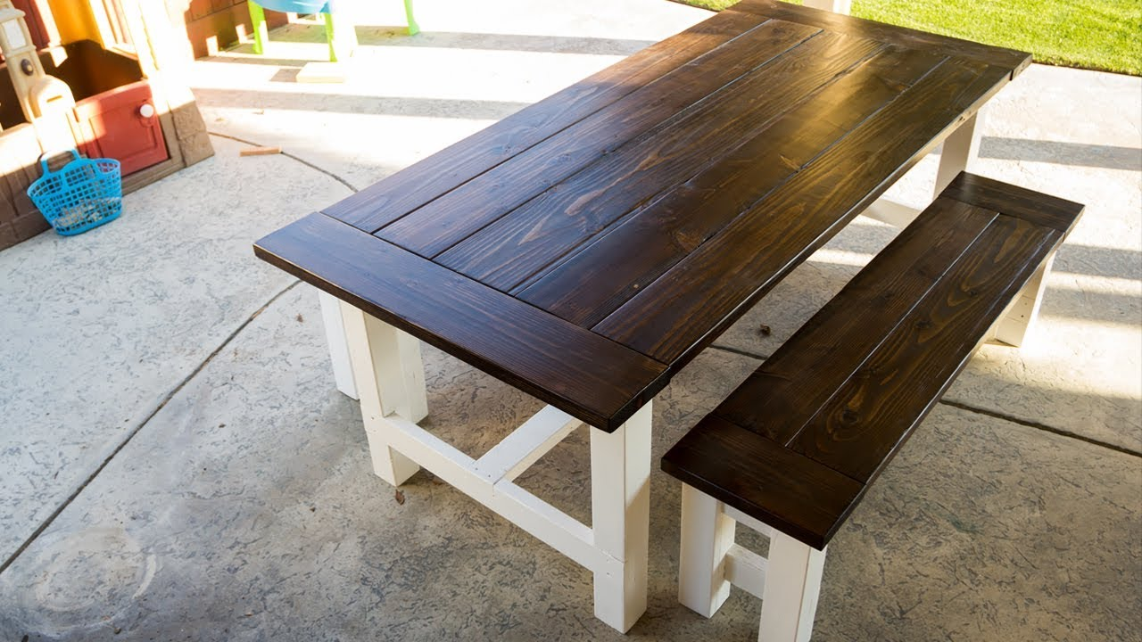Building A Farmhouse Table For The Patio Youtube