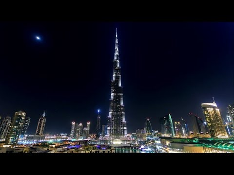4 June 2019 | Eid Celebration in Dubai | Burj Khalifa Night View &  Light Show