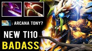 NEW BADASS Dragon Tony TI10 Set Silver Edge Intense Game vs Rat Naga 7.27 Dota 2