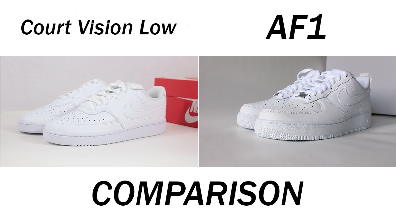 Comparing the Nike Air Force 1 and Nike Court Vision Low   What's the Difference?