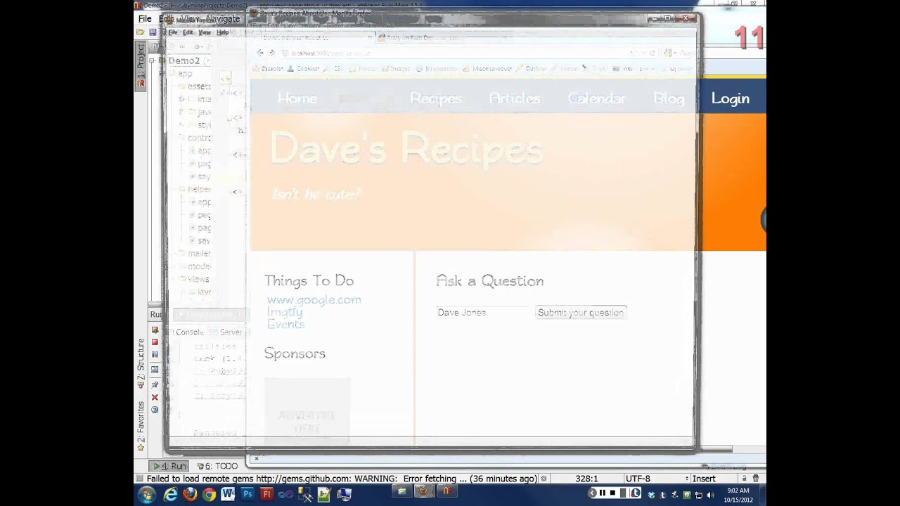 Day 10 - Ruby on Rails 3 - Form_Tag and Model-less forms - YouTube