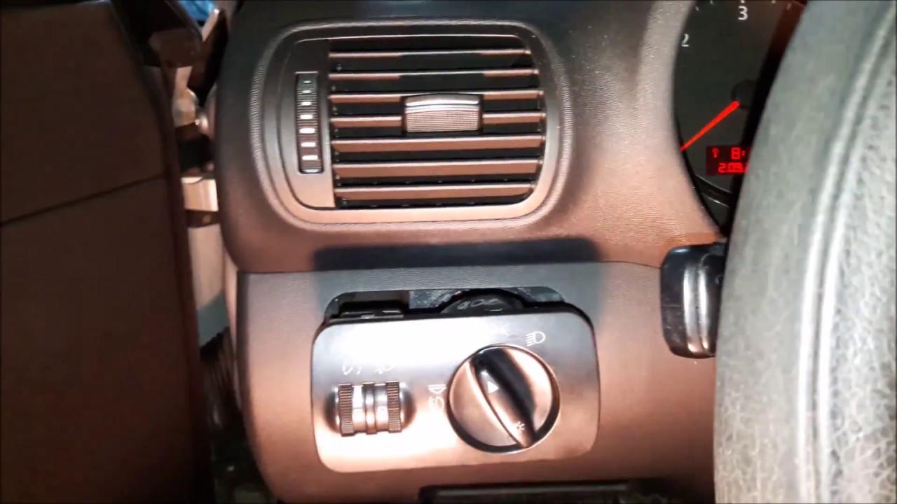 Wymiana Włącznika świateł Audi A3 8l Youtube