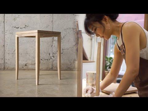 Kobeomsuk furniture - White oak wood stool one day class with 김장미