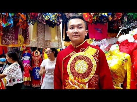 Đi chợ phạm Văn Hai ngày tết sắm áo dài cực vui   saigon travel Guide