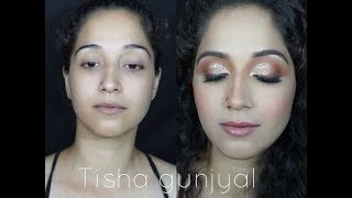 indian wedding makeup -step by step for beginners |Tisha Gunjyal