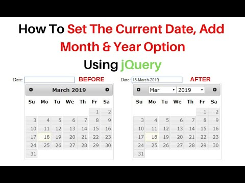 Jquery Datepicker Set Default Date Dynamically Month And Year Ver 3.3.1
