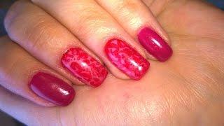 Кружевной дизайн ногтей /Колготки/(Кружевной дизайн или дизайн колготки в ярком красном. Другие видео http://youtu.be/BP0L48sZ_L8 http://youtu.be/WY31j0C_DvM., 2014-12-01T10:18:17.000Z)
