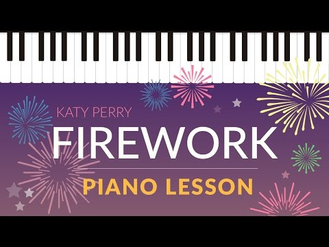 Firework (Katy Perry) - Easy Piano Tutorial - Hoffman Academy