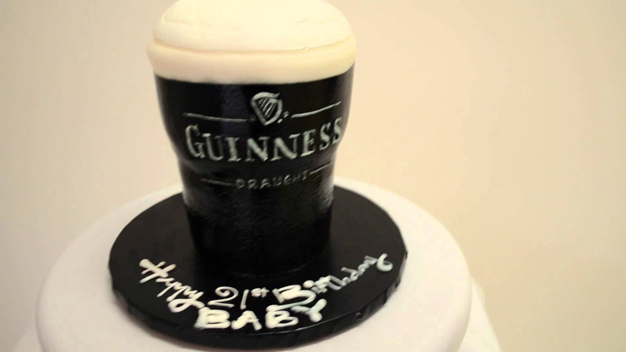 Guinness Dark Beer For Special Groom Cake For Bachelor