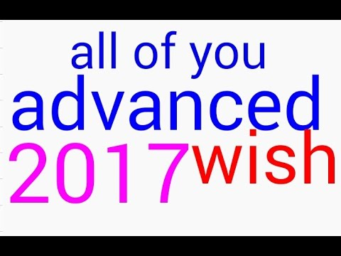 happy new year advance 2017 youtube