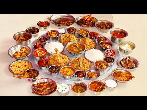 SOUTH INDIAN THALI 40 ITEMS | BIGGEST NON VEG THALI IN CHENNAI | EATING CHALLENGE | FARMER COOKING