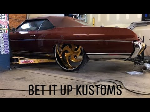 THEM DONKS & THAT WORK @ BET IT UP KUSTOMS 6309730415 CUSTOM SUSPENSIONS BY BANKROLL @ SCARFACE