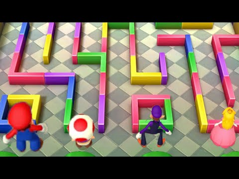 Mairo vs Peach vs Waluigi vs Birdo (Try hard) ! Mario party 10 ! Minigames