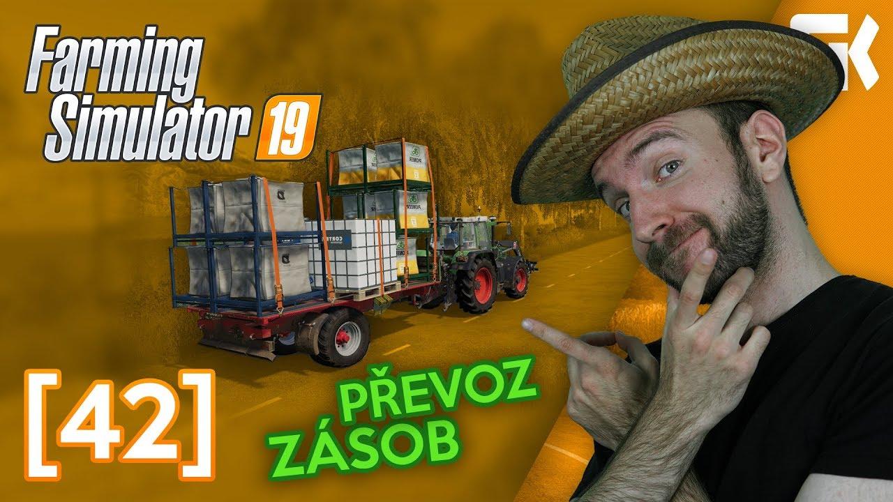 PŘEVOZ ZÁSOB! | Farming Simulator 19 #42