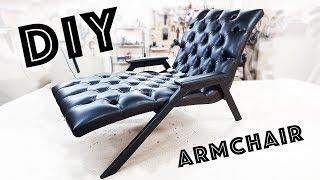 Armchair on the metal frame ARMCHAIR DIY do it yourself