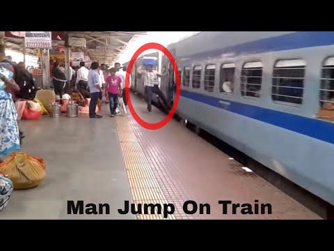 Man Jump on Sant Kabir Dham SF Express To Kalyan Station