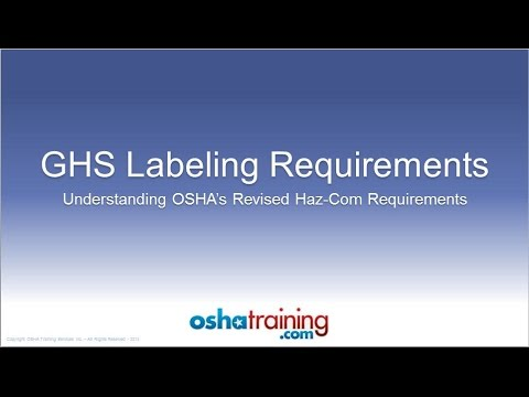 Free OSHA Training Tutorial - Understanding the GHS Labeling System