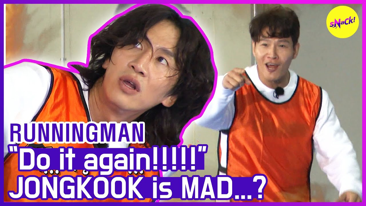 "[HOT CLIPS] [RUNNINGMAN] ""Do it again!!!!🤬🤬"" JONGKOOK is MAD  (ENG SUB)"