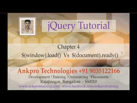 jQuery 4 - Difference between $(window).load() and $(document).ready()