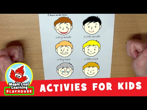 Funny Faces Activity for Kids | Maple Leaf Learning Playhouse