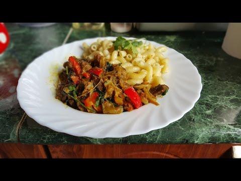 Тушёное мясо с овощами в