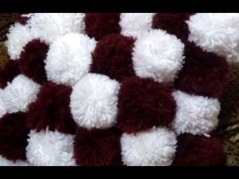 Помпоны для коврика своими руками