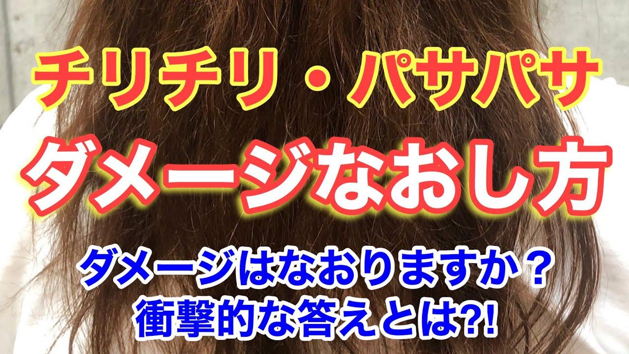 【チリチリ・パサパサ毛】髪の毛のダメージなおりますか?衝撃の答えとは!?