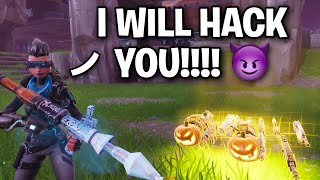 Hacking Scammer Crashed my GAME!! 🤧😓 (Scammer Get Scammed) Fortnite Save The World