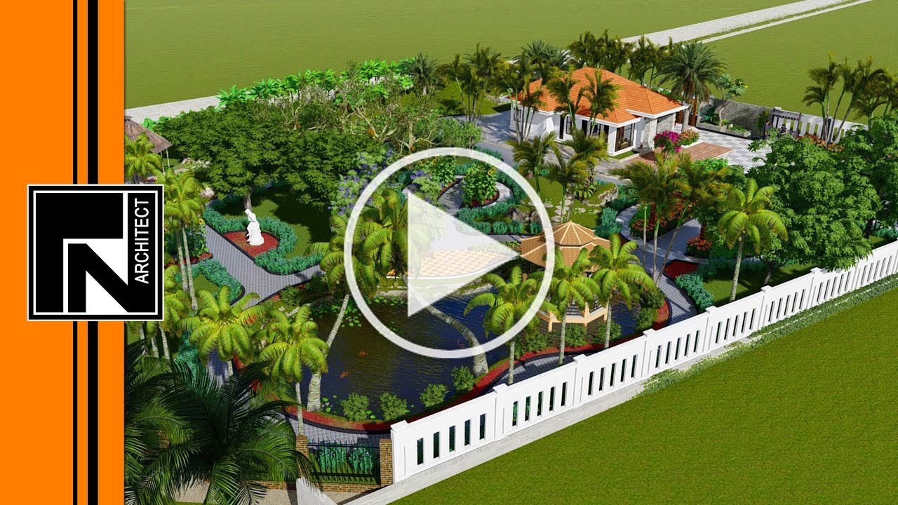 Mẫu nhà vườn cấp 4 đẹp ở nông thôn   Kiến trúc TN