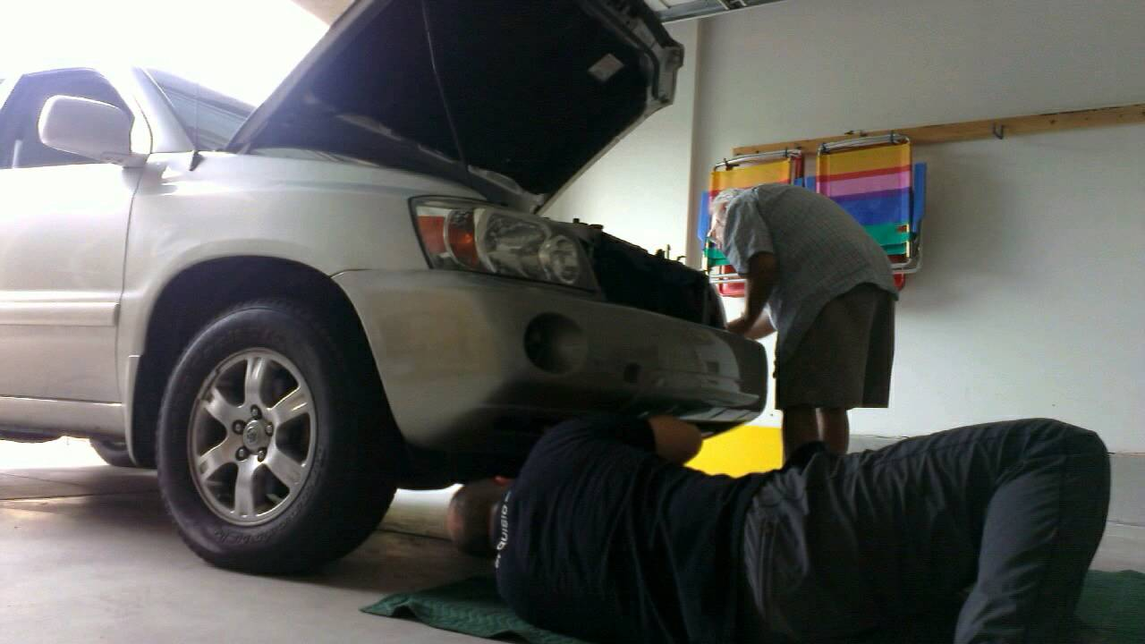 Toyota Highlander Front Bumper Replacement 10 6 2014