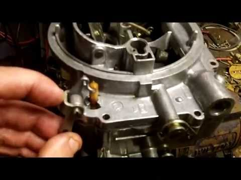EVELYN #213 - Edelbrock 600-CFM Carburetor partial re-assembly in the RAIN  while in PAIN !