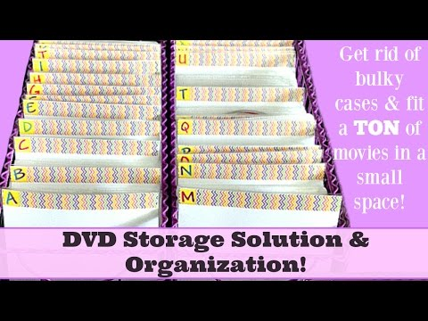 """DVD Storage Solution & Organization! 260 DVD's Stored in only 12"""" of Space!"""