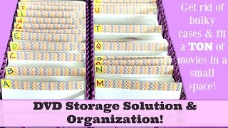 DVD Storage Solution & Organization! 260 DVD's Stored in only 12 of Space!