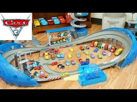 Disney Cars 3 Ultimate Florida 500 Speedway Race Track Lightning Jackson Cruz Duel Race so Fast!