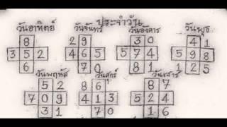 ตารางคำนวณ หวย ! ออกวันศุกร์ตรงกับเลขตัวไหน เลขเด็ด หวยเด็ด งวดวันที่ 16/10/58