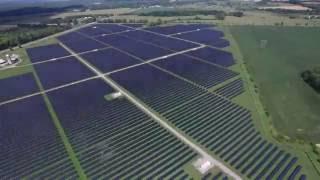[4K] Drone footage of solar farm in Ontario, Canada