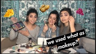 we tried following a makeup tutorial w/ a tasty consequence