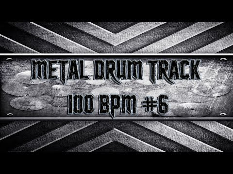 Rage Against The Machine Style Metal Drum Track 100 BPM (HQ,HD)