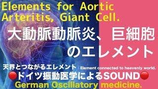 🔴ドイツ振動医学による大動脈動脈炎、巨細胞編|Aortic Arteritis, Giant Cell by German Oscillatory Medicine.