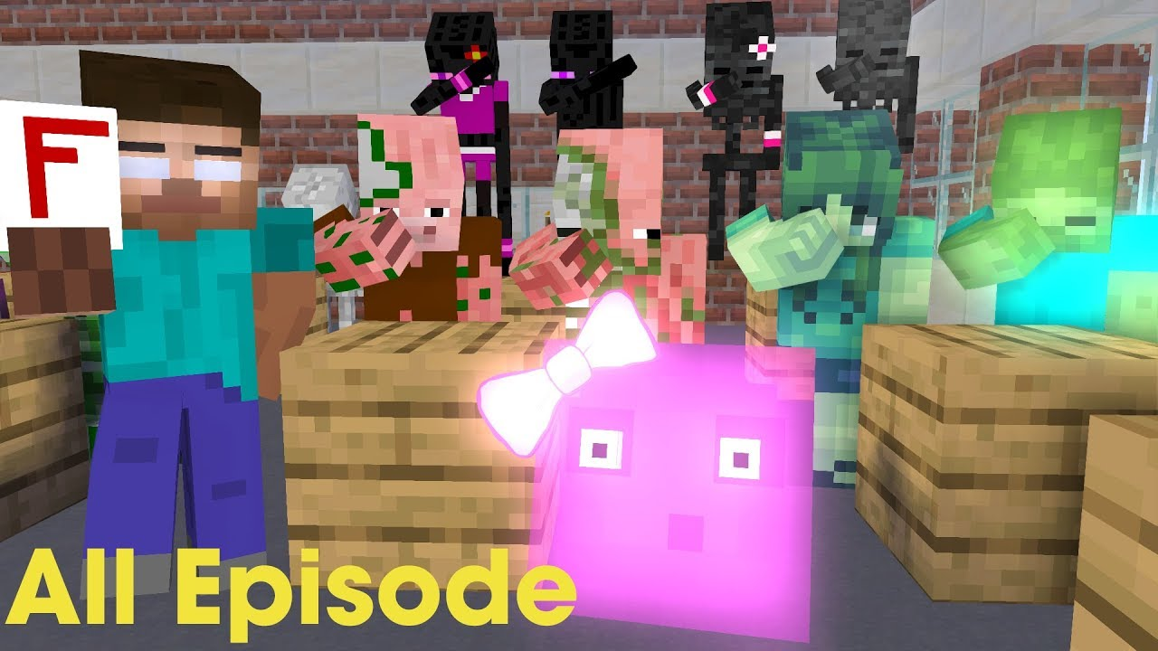 Monster School : Season 1 All Episode - Funny Minecraft Animation