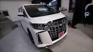 ガラスコーティング大阪 スピード関西 2018新型トヨタアルファード ホワイトパールクリスタルシャイン施工