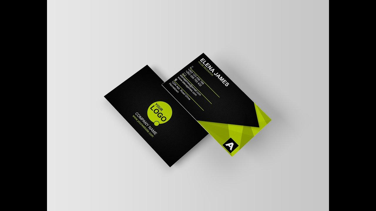 Modern Business Card [Corporate Green] - Creative Arts™ - YouTube