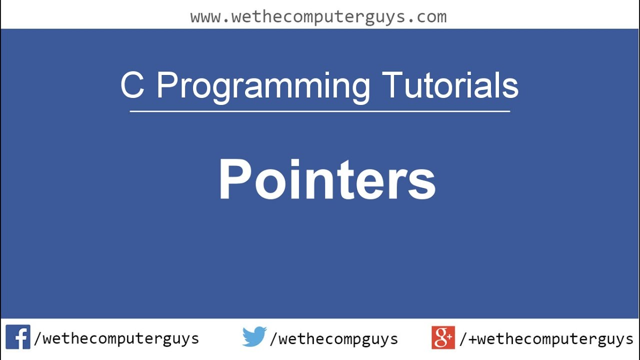 C Programming Language Tutorial Lect 21 Pointers Youtube