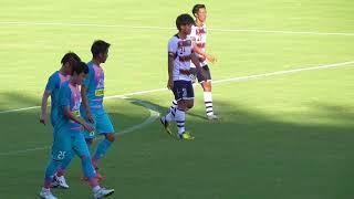 後半45分、左の安庸佑のセンタリングに、池田圭が頭で右に決め、サガン...
