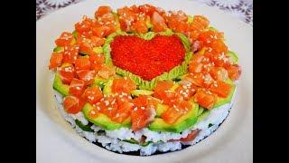 Торт салат СУШИ салат рецепт Салат на ПРАЗДНИЧНЫЙ стол Удивляем родных и друзей Готовим с любовью