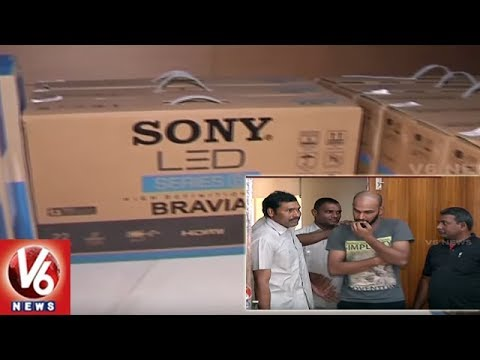 Online Shopping : Hyderabad Police Busted Duplicate TV Racket | V6 News