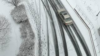 Scenes of snowfall in downtown Trenton