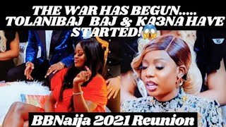 Tolanibaj & Ka3na Came for WAR   BBNaija Reunion Day1
