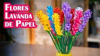 Flores Lavanda de Papel Facilisimas y Muy Decorativas